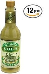 "Louisiana Gold Wasabi Pepper Sauce - (Twelve ""12"" Pack Of 5 Oz. Bottles)"