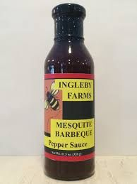 "Ingleby Farms Mesquite Barbeque Pepper Sauce - (Two ""2"" Pack of 11.5 Oz. Bottles)"