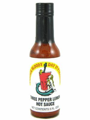 """Another Bloody Day in Paradise (Three Pepper Lemon) Hot Sauce - (Three """"3"""" Pack Of 5 Oz. Bottles)"""