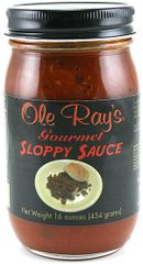 "Ole Ray's Gourmet Sloppy Sauce - (TWO ""2"" Pack of 16 Oz. Bottles)"
