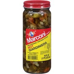 "Marconi The Original Chicago Style - Hot Giardiniera - (Three ""3"" Pack of 16 Oz. Jars)"