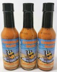 "Caribbean Bajan Hot Pepper Sauce (Three ""3"" Pack of 5 Fl. Oz. Bottles)"