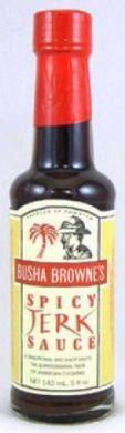 "Busha Browne's Spicy Jerk Sauce 5 oz (Three ""3"" Pack)"