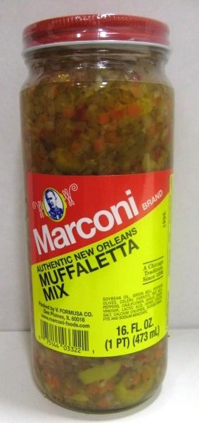 Marconi Authentic New Orleans Muffaletta Mix (2 Pack of 16 Oz Bottles)