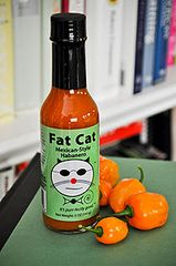 "Fat Cat Mexican Style Habanero Hot Sauce - (Three ""3"" Pack)"