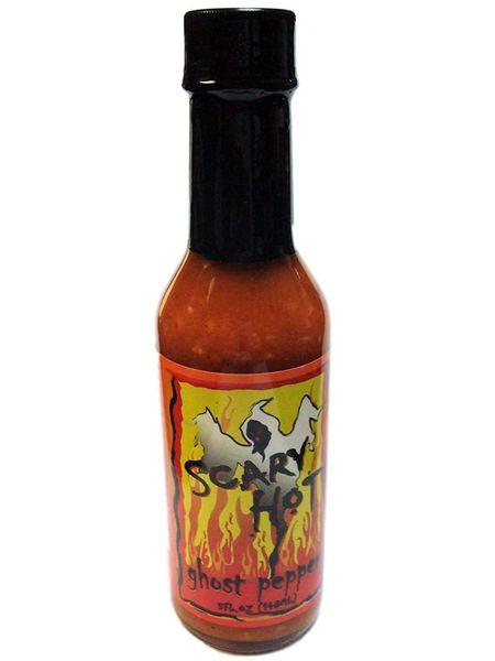Scary Hot Ghost Pepper Hot Sauce - (Single Bottle)