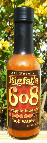 Bigfat's 6o8 Pineapple Habanero Hot Sauce (3 Pack)
