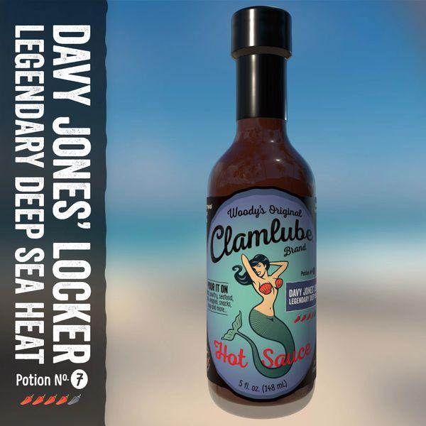 Clamlube Davy Jones' Locker Legendary Deep Sea Heat Hot Sauce – (3 Pack)