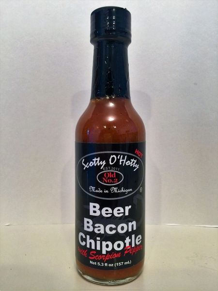 Scotty O'Hotty Beer-Bacon Chipotle with Scorpion Peppers Hot Sauce – (3 Pack)