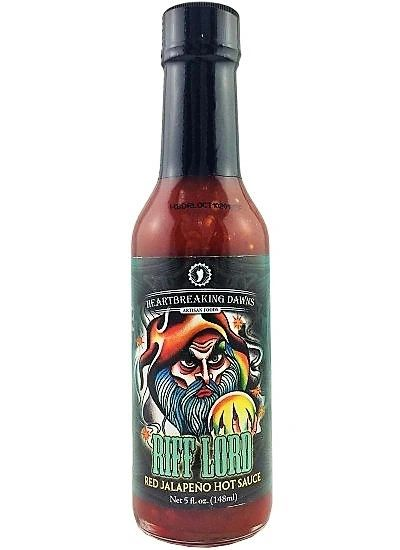 Heartbreaking Dawns Riff Lord Red Jalapeño Hot Sauce – (3 Pack)