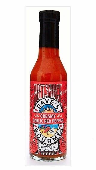 Dave's Gourmet Creamy Garlic Red Pepper Hot Sauce - (3 Pack)