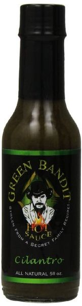 "Green Bandit Cilantro Hot Sauce – (Three ""3"" Pack Of 5 Oz. Bottles)"