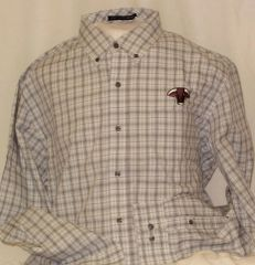 Santa Gertrudis Plaid Long Sleeve Dress Shirt