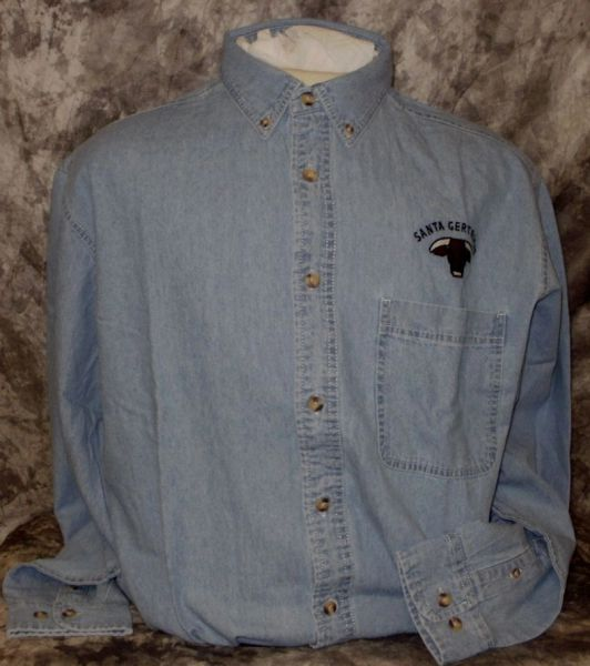 Santa Gertrudis Embroidered Denim Long Sleeve Shirt