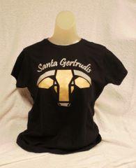 Santa Gertrudis Ladies Glitter Logo Tee