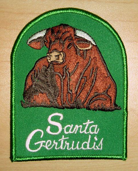 Santa Gertrudis Vintage Design Patch
