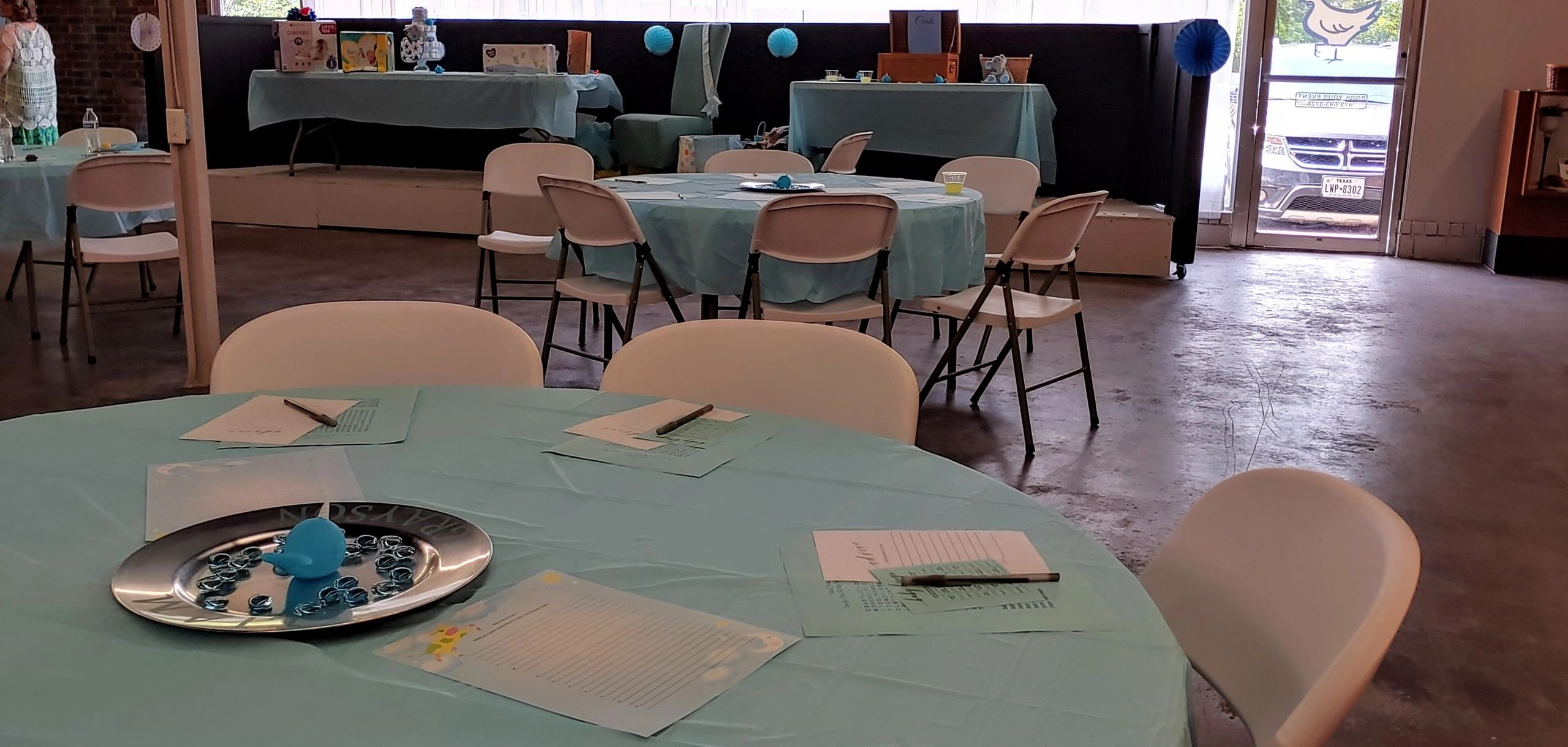 Baby Shower at the Bleu Hen Crossing Event Center in Pittsburg, TX