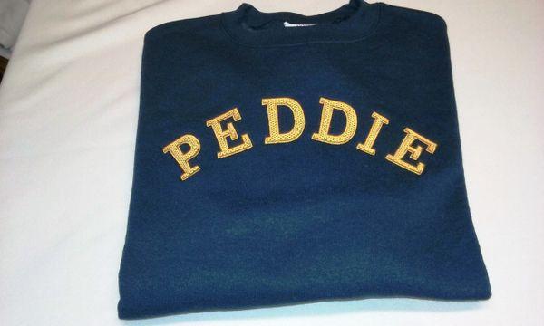 Peddie Embroidered Crew