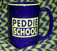 Cobalt and Gold Peddie Mug
