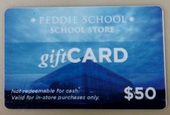 Peddie School $50 Gift Card