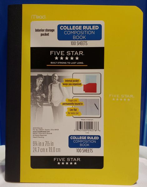 5 Star Composition Book