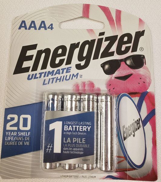 AAA Energizer Lithium Batteries