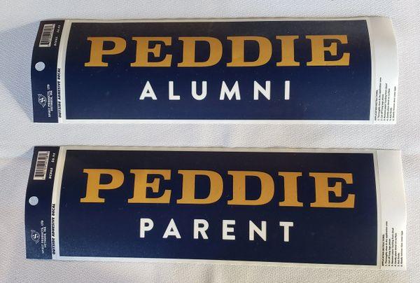 Peddie Wordmark Parent/Alum Car Decal