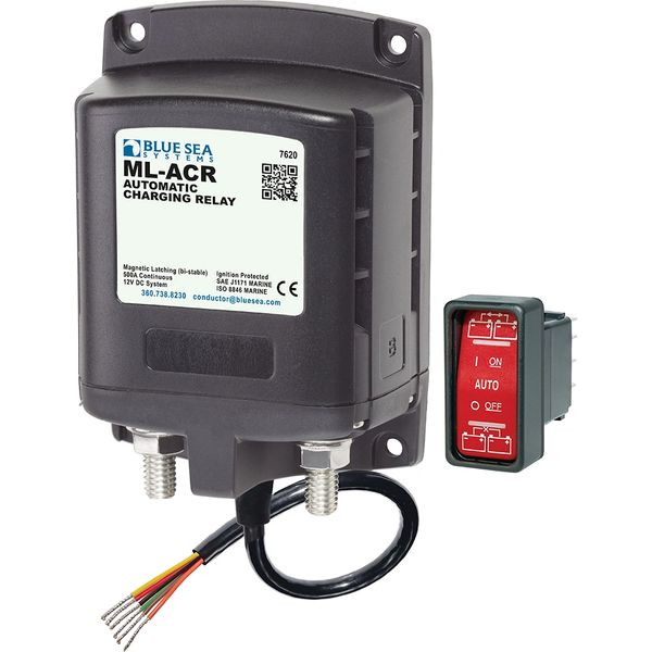 Blue Sea 7620 ML-ACR 500A Magnetic Latching Combining Relay