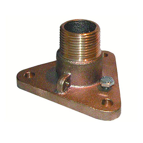 """Flanged Seacock Adapter for 1.25"""" NPT Seacocks"""