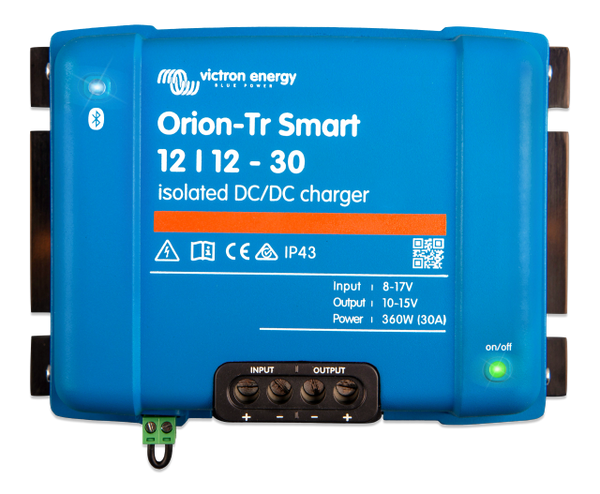 Victron Orion Tr Smart 12V 30A DC to DC Battery Charger -Isolated