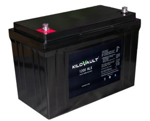 KiloVault HLX 100Ah LiFePO4 -With Built In Bluetooth Communication