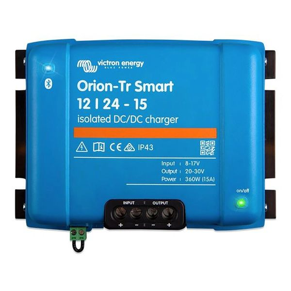 Victron Orion Tr Smart 12V to 24V 15A DC to DC Battery Charger - Isolated