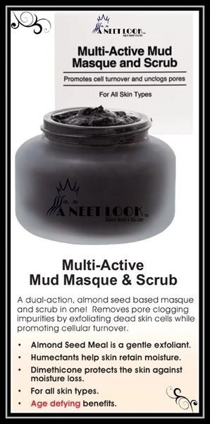 Multi-Active Mud Masque and Scrub