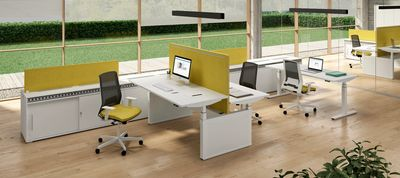 Height adjustable desks and workstation