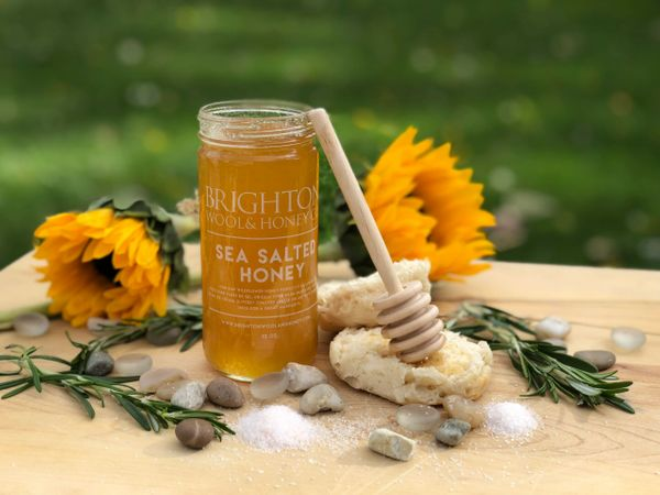 Sea Salted Raw Honey, 12 oz.