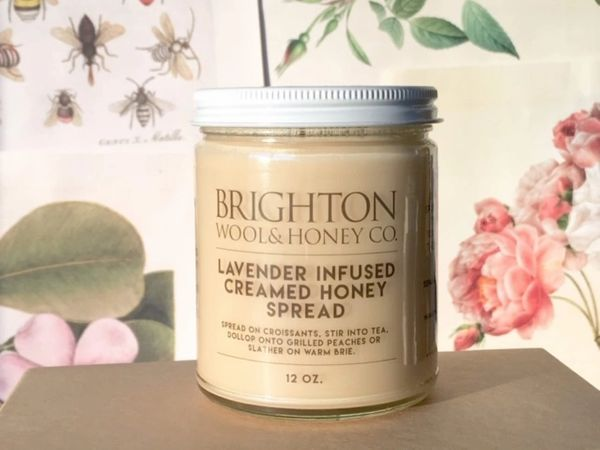 Raw Lavender Infused Creamed Honey Spread, 12 oz.
