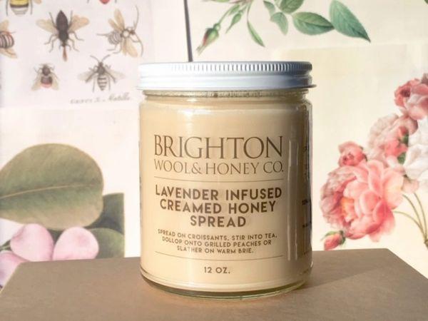 Raw Lavender Infused Creamed Honey Spread, 12 oz.