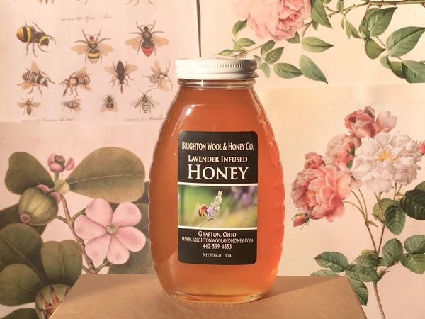 Raw Lavender Infused Honey, 1 lb.