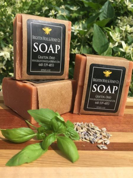 All Natural Grapefruit Lavender & Basil Bar Soap