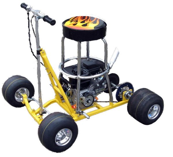 """COMPLETE PRO BARSTOOL RACER 6.5hp ENGINE 1"""" AXLE"""