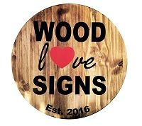 Wood Love Signs