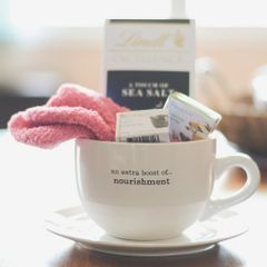 """Gift Basket Mug"" {an extra boost of...comfort or nourishment}"