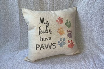 """My Kids Have Paws"" Pillow"
