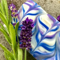 (I) Lavender Blue Soap scented with French lavendin essential oil (grosso) - Back in stock Feb 1