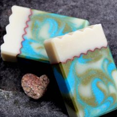 (J) Lime Rosemary Scented Soap