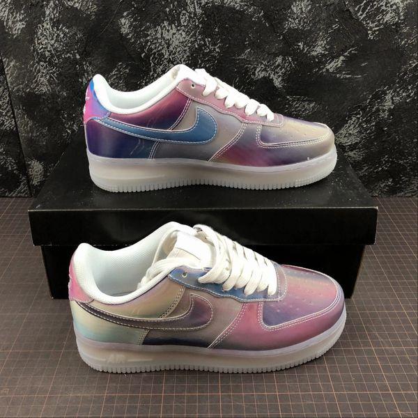 Custom Nike Air Force 1 White Rainbow Muti Color in 2020