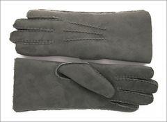 Classic Steel Grey Sheepskin Shearling Gloves