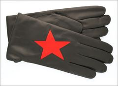 Mario Fazio Men's Black Cashmere lined with Red Star