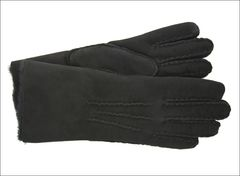 Classic Black Sheepskin Shearling Gloves