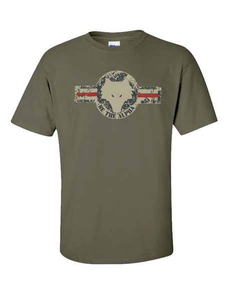 Military Stamp Be The Alpha Tee